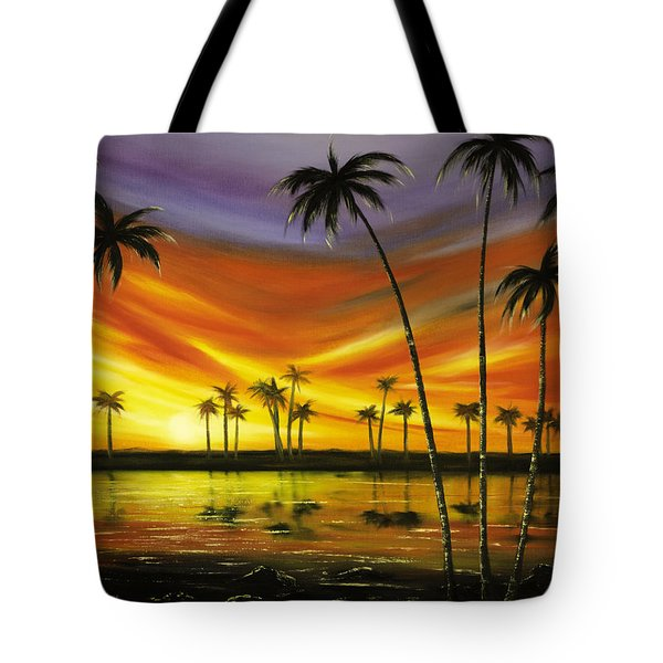 Another Sunset In Paradise Tote Bag by Gina De Gorna