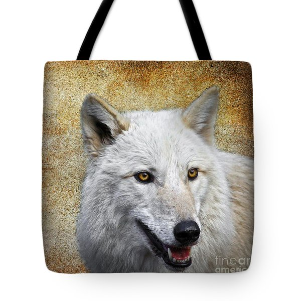 Arctic White Wolf  Tote Bag by Steve McKinzie