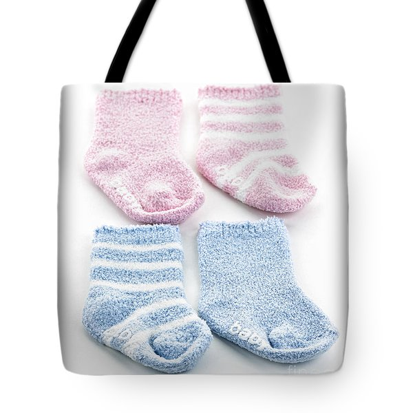 Baby Socks Tote Bag by Elena Elisseeva