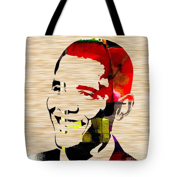 Barack Obama Tote Bag by Marvin Blaine