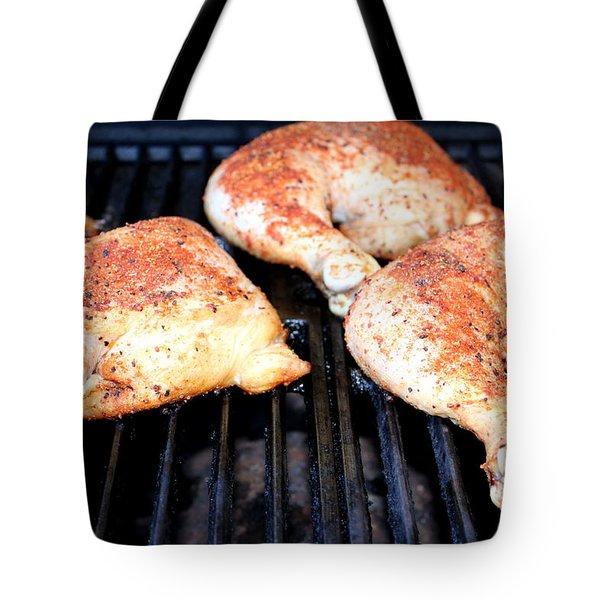 Bbq Chicken Tote Bag by Henrik Lehnerer