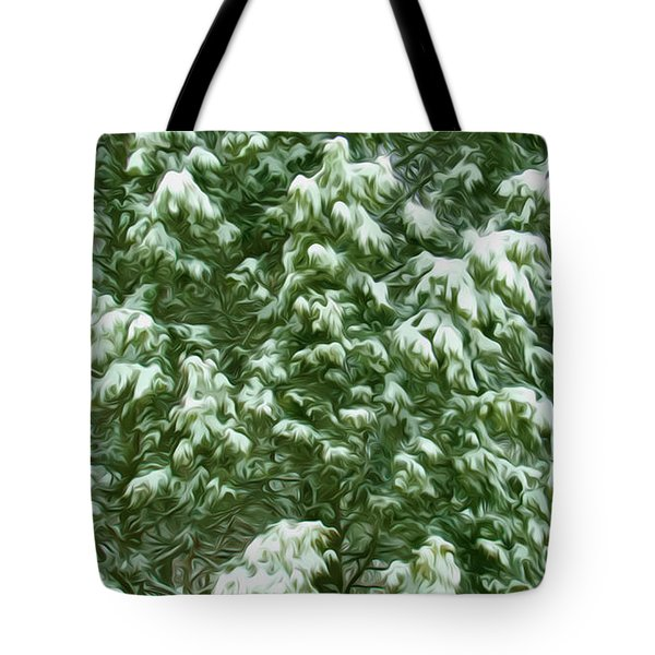Beautiful Winter Tree Tote Bag by Lanjee Chee
