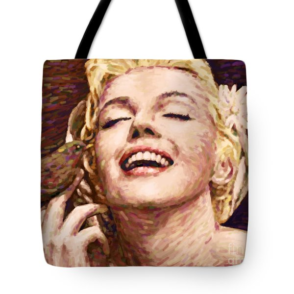Beautifully Happy Tote Bag by Atiketta Sangasaeng