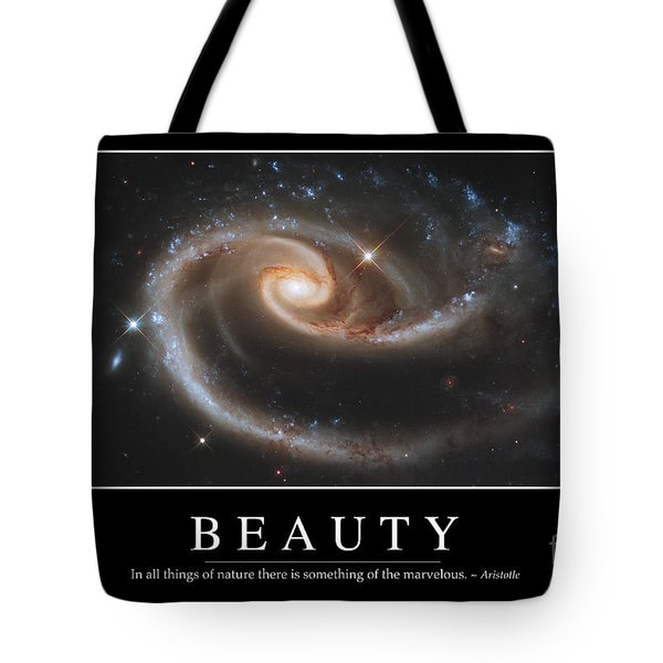 Beauty Inspirational Quote Tote Bag by Stocktrek Images