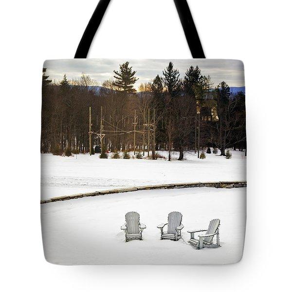 Berkshires Winter 3 - Massachusetts Tote Bag by Madeline Ellis