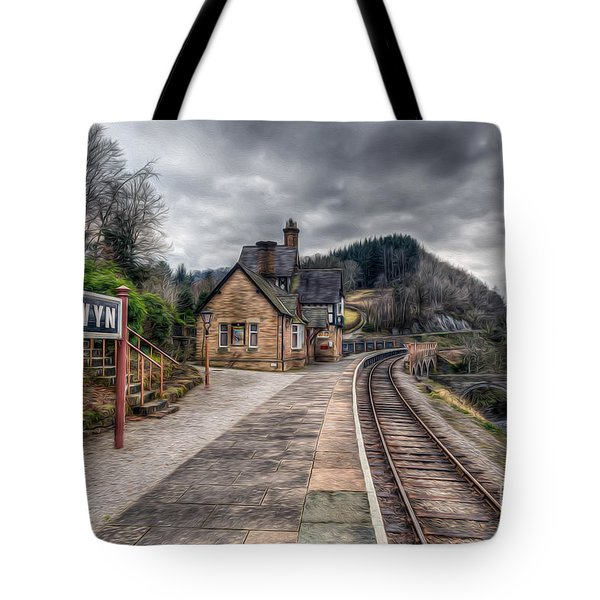 Berwyn Railway Station Tote Bag by Adrian Evans