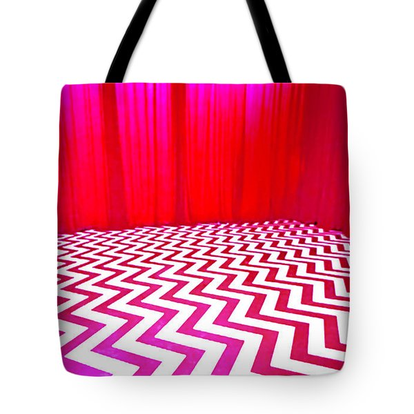 Black Lodge Tote Bag by Luis Ludzska