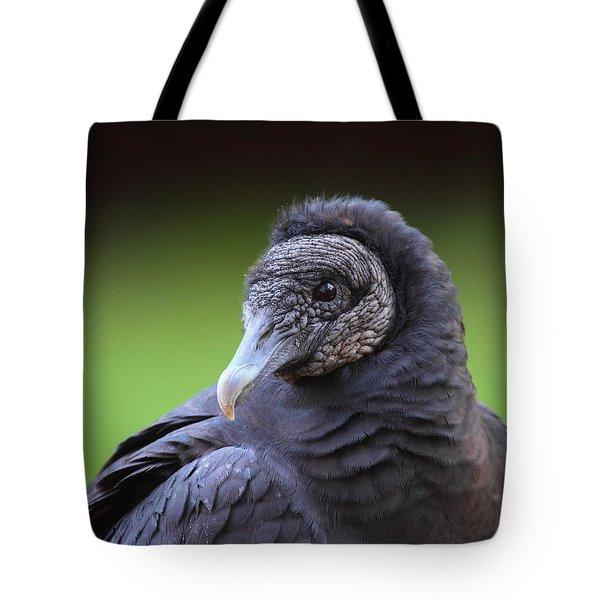 Black Vulture Portrait Tote Bag by Bruce J Robinson