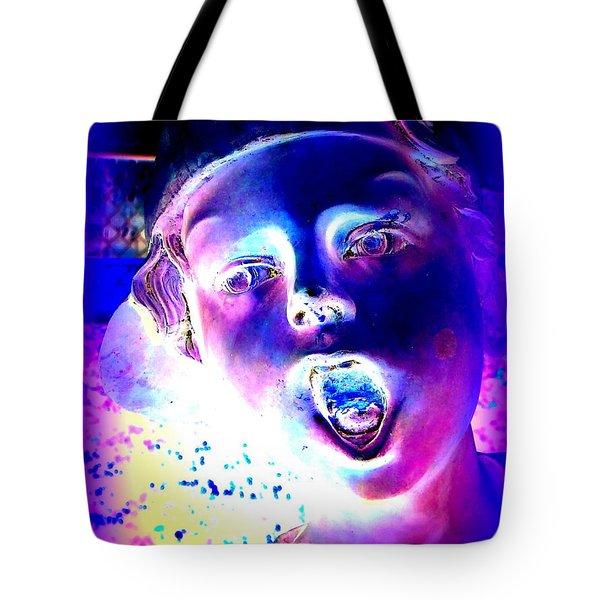 Blue Boy Tote Bag by Ed Weidman