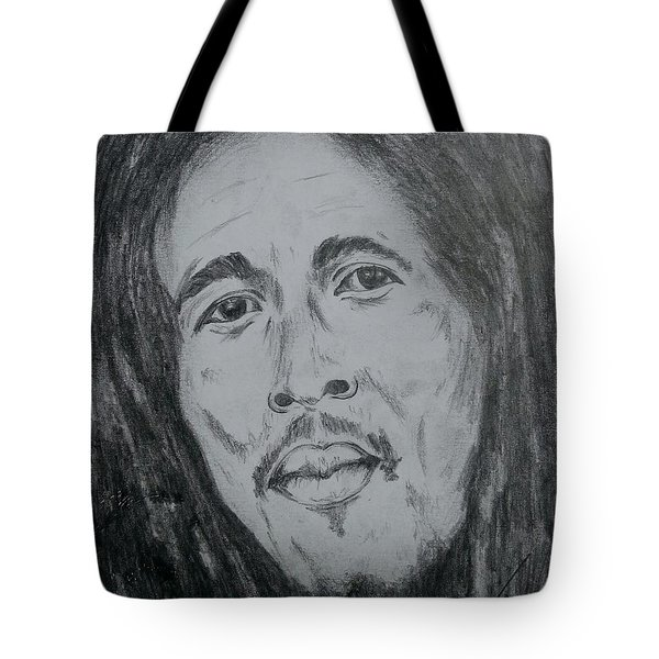 Bob Marley Tote Bag by Collin A Clarke