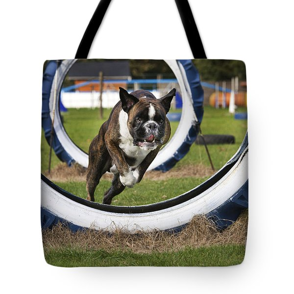 Boxer Dog Tote Bag by Johan De Meester