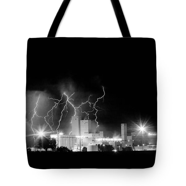 Budweiser Lightning Thunderstorm Moving Out BW Tote Bag by James BO  Insogna
