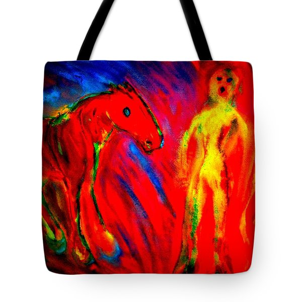 Burning Love  Tote Bag by Hilde Widerberg
