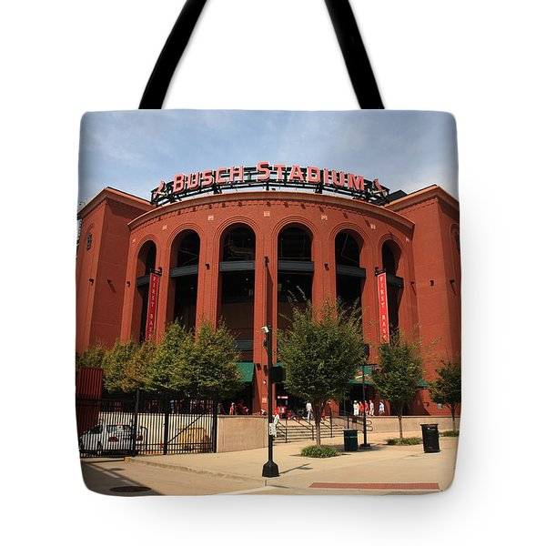Busch Stadium - St. Louis Cardinals Tote Bag by Frank Romeo