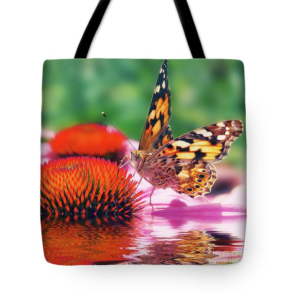 Butterfly Tote Bag by Angela Doelling AD DESIGN Photo and PhotoArt