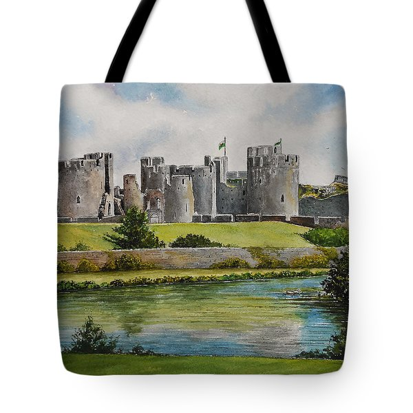 Caerphilly Castle  Tote Bag by Andrew Read