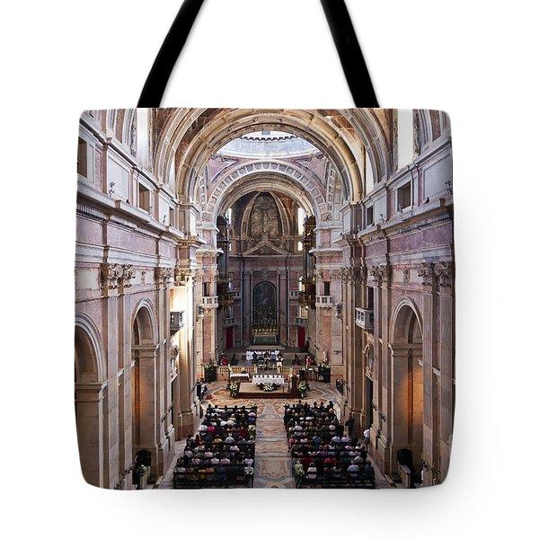 Catholic Mass Tote Bag by Jose Elias - Sofia Pereira