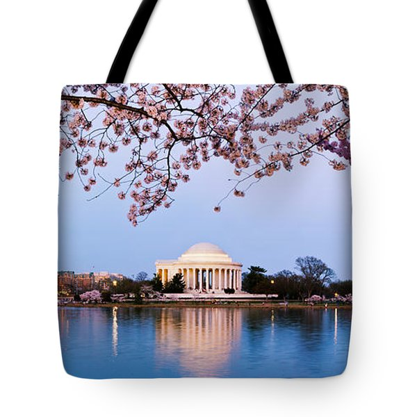 Cherry Blossom Tree With A Memorial Tote Bag by Panoramic Images
