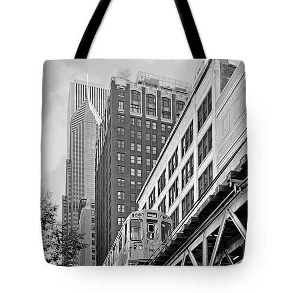 Chicago Loop 'L' Tote Bag by Christine Till