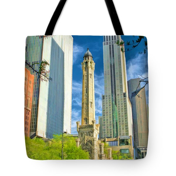 Chicago Water Tower Shopping Tote Bag by Christopher Arndt