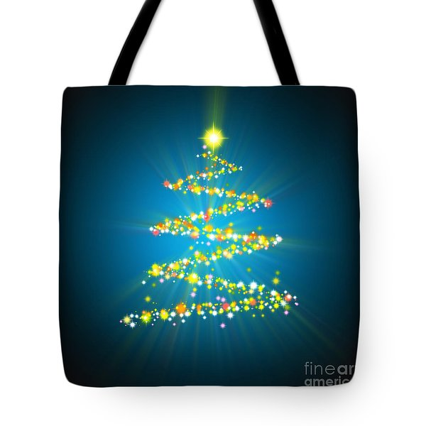 Christmas Tree Tote Bag by Atiketta Sangasaeng