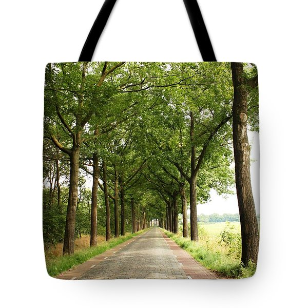 Cobblestone Country Road Tote Bag by Carol Groenen