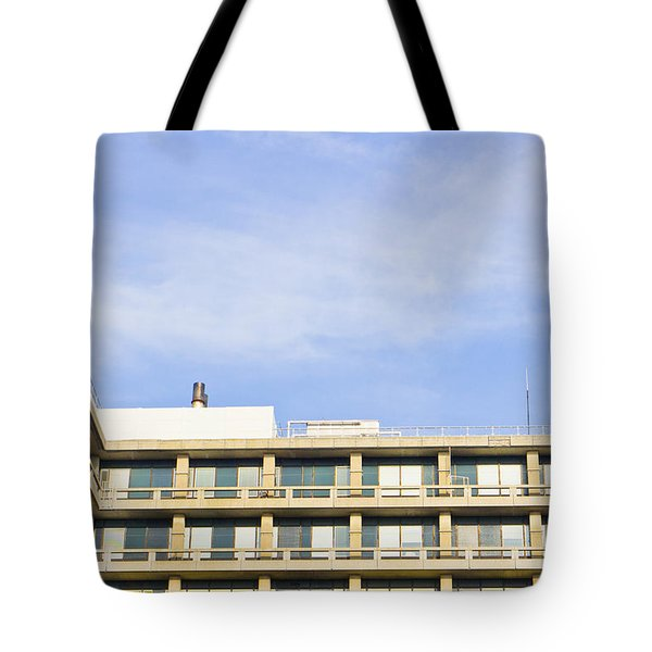 Concrete Building Tote Bag by Tom Gowanlock
