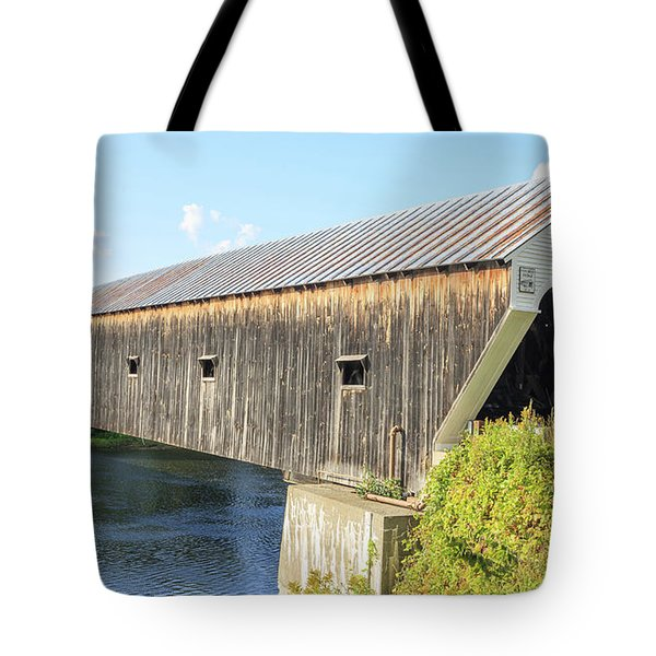 Cornish-Windsor Covered Bridge  Tote Bag by Edward Fielding