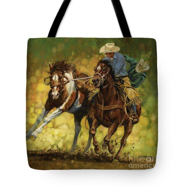 Rodeo Pickup Tote Bag by Don  Langeneckert