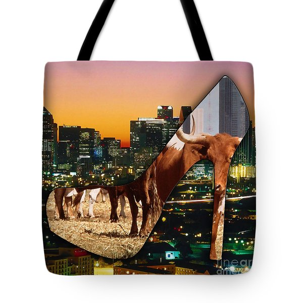 Dallas Texas Skyline Tote Bag by Marvin Blaine