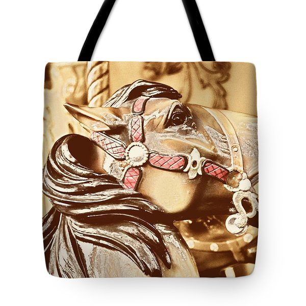 DASHING HORSES Tote Bag by JAMART Photography