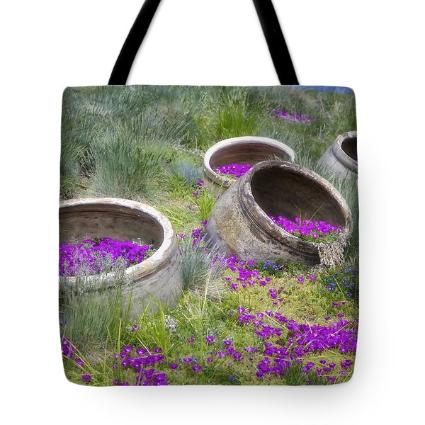 Desert Flowers Tote Bag by Joan Carroll