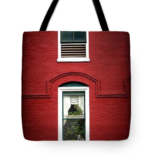 Doggie In The Window Tote Bag by Laurie Perry