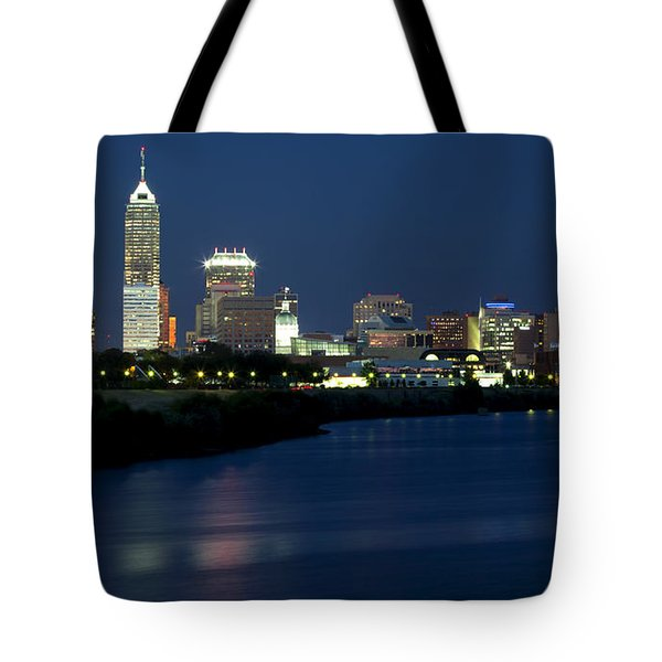 Downtown Indianapolis Indiana Tote Bag by Anthony Totah