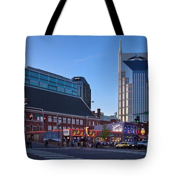 Downtown Nashville Tote Bag by Brian Jannsen