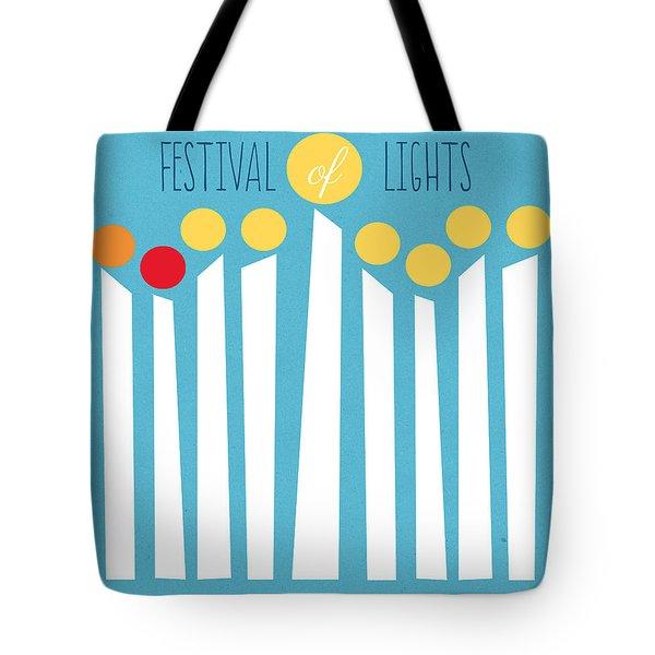 Festival Of Lights Tote Bag by Linda Woods
