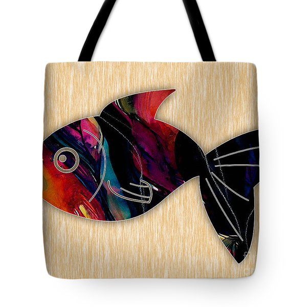 Fish Painting Tote Bag by Marvin Blaine