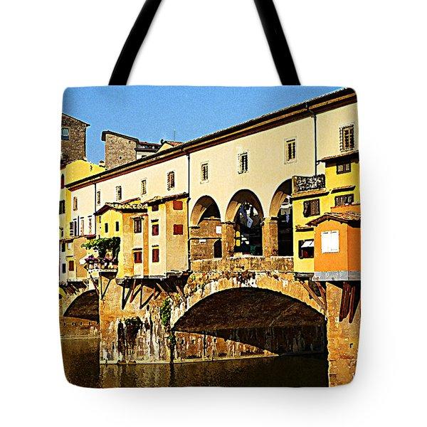 Florence Italy Ponte Vecchio Tote Bag by Irina Sztukowski