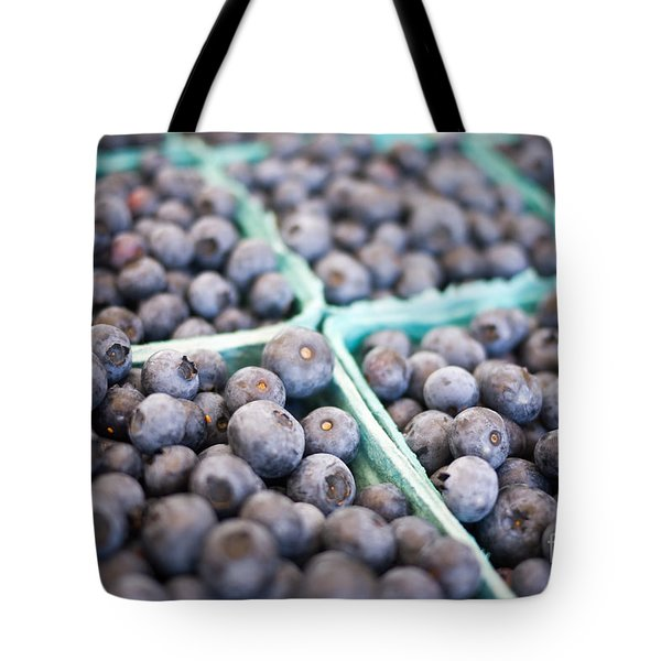 Fresh Blueberries Tote Bag by Edward Fielding