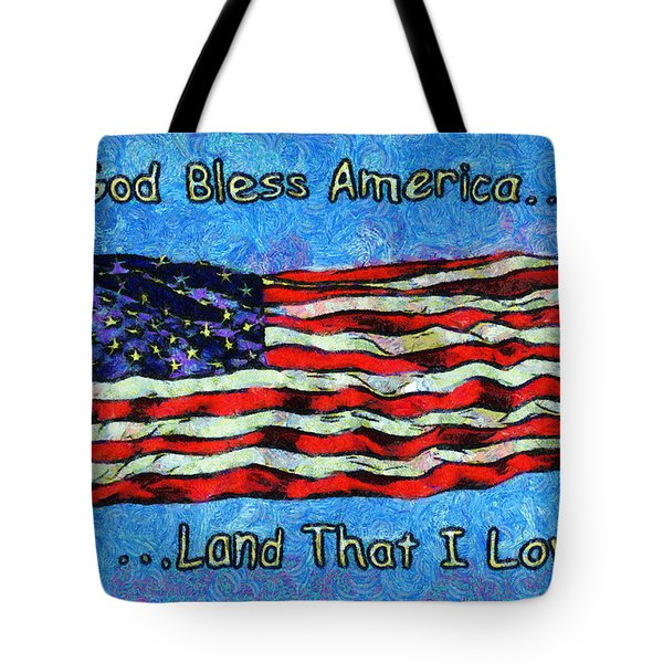 God Bless America  Tote Bag by Barbara Snyder
