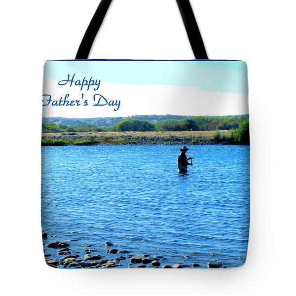 Gone Fishing Tote Bag by Joyce Dickens