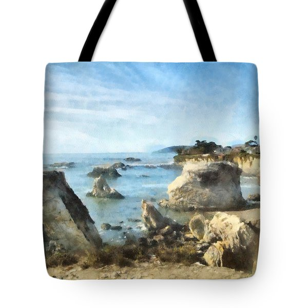 Hazy Lazy Day Pismo Beach California Tote Bag by Barbara Snyder