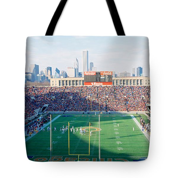 High Angle View Of Spectators Tote Bag by Panoramic Images