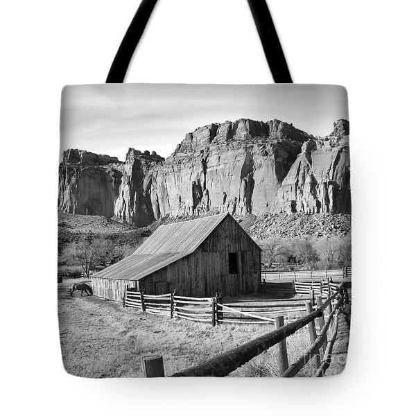 Horse Barn In Fruita Utah Tote Bag by Jack Schultz