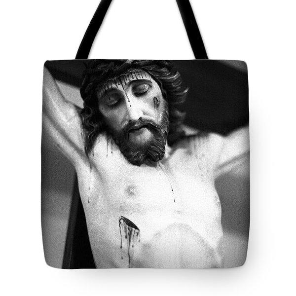 Jesus On The Cross Tote Bag by Gaspar Avila
