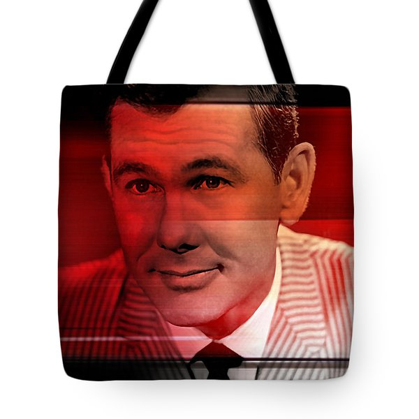 Johnny Carson Tote Bag by Marvin Blaine