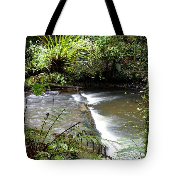Jungle Stream  Tote Bag by Les Cunliffe
