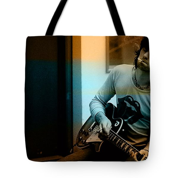 Keith Richards Tote Bag by Marvin Blaine