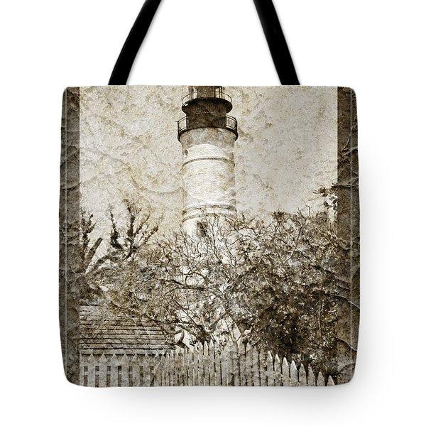 Key West Lighthouse Tote Bag by John Stephens