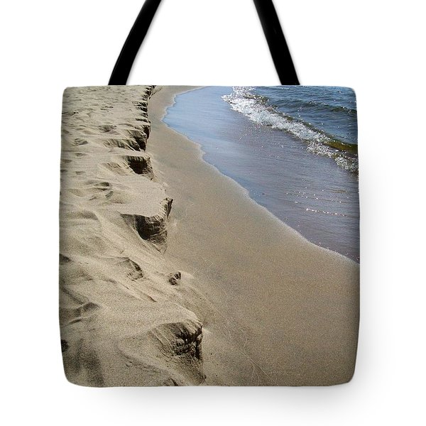 Lake Michigan Shoreline Tote Bag by Michelle Calkins